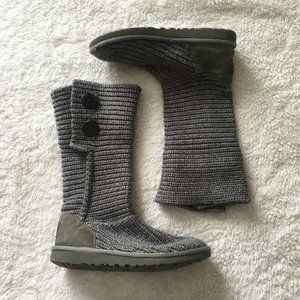 UGG Classic fold over Cardi knit boots